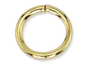 Gold 9 x 1.5 mm Steel Jumprings Qty: 50