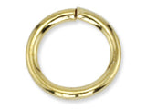 Gold 6 x 1 mm Steel Jumprings Qty: 100