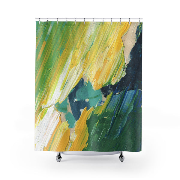 Spring Green Shower Curtains