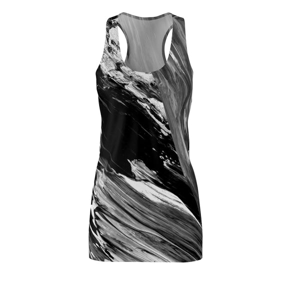 Women's Black & White Racerback Dress