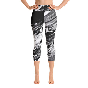 Black & White Yoga Capri Leggings
