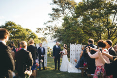 Wedding ceremony at Athol Hall