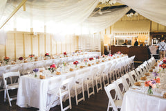 Wedding reception decoration at Athol Hall