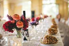 Table florals at Athol Hall