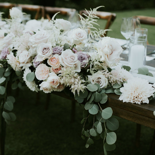 Bridal table florals