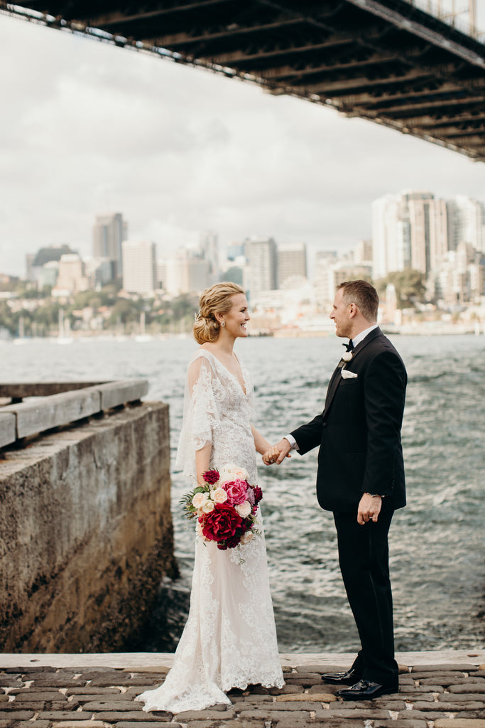 Bride and Groom at Sydney Harbour