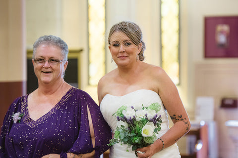 The Bride with her Mother.