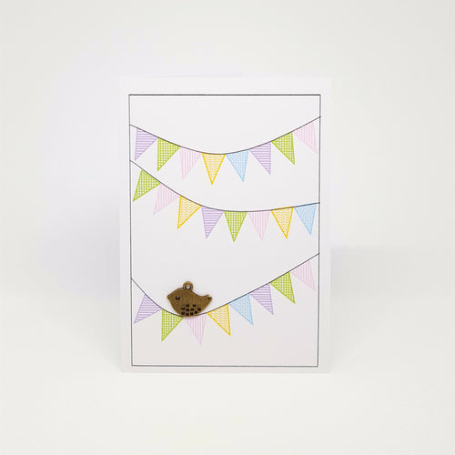 Bird on Bunting Gift Card