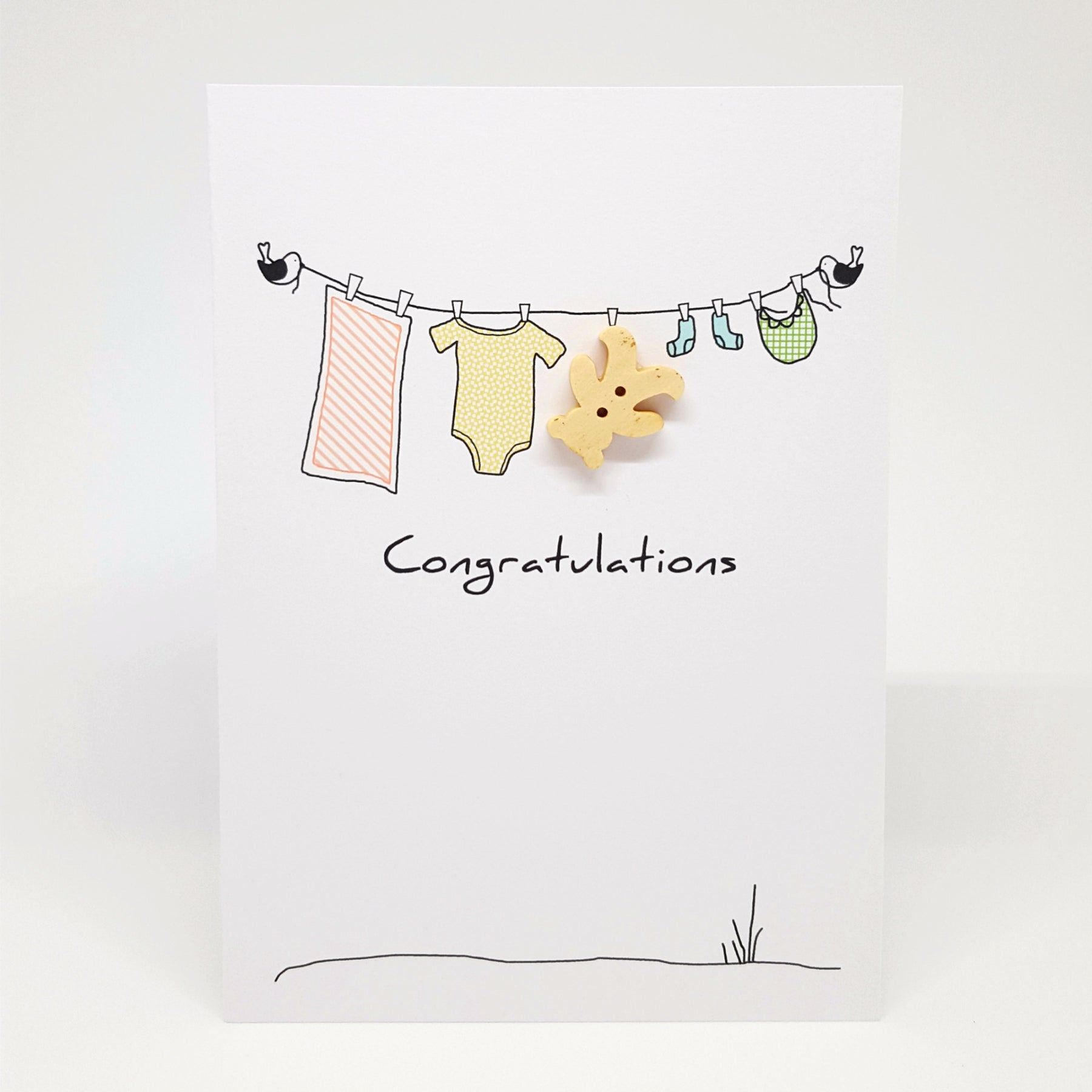 Congratulations baby gift card – Sweet Pea and Honey Bee