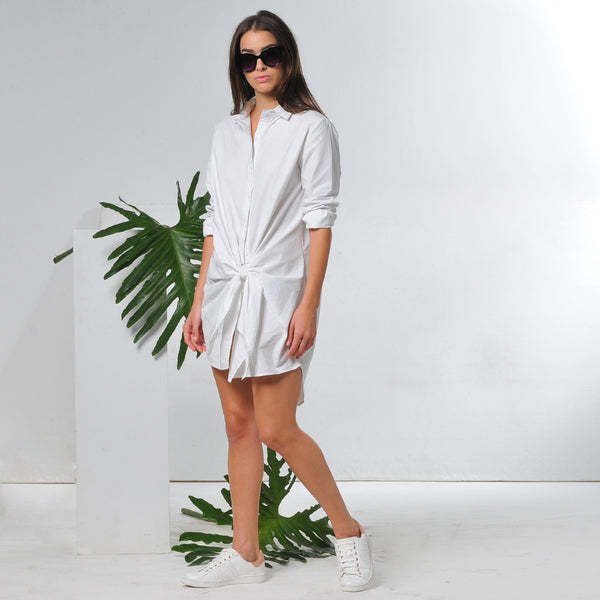 Ray tie waist shirtdress