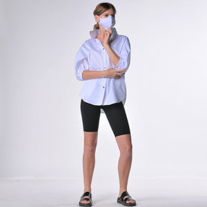 Protective hi collar top