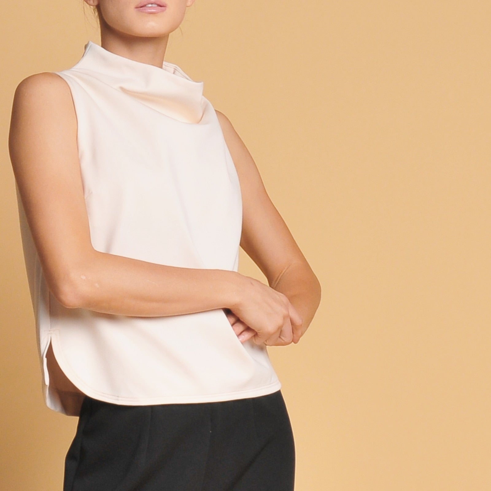 Therese cowl neck top