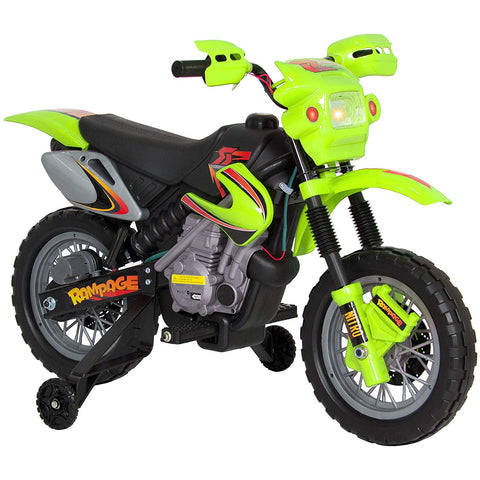 Kids 6V Electric Ride On Motorcycle Dirt Bike W/ Training Wheels