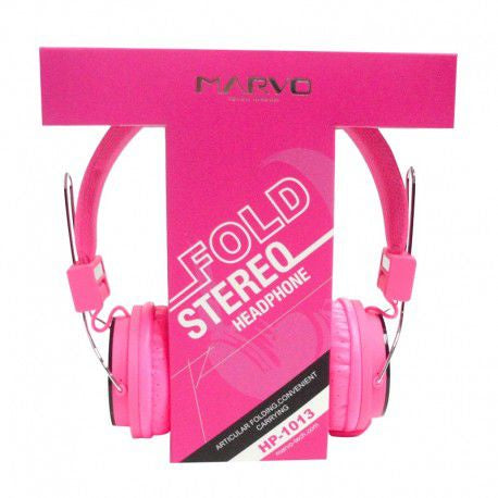 MARVO HP-1013PK Fold Stereo Headphone - Pink