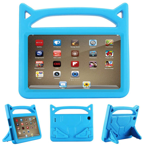 ANTIKE FIRE HD 7 2017 (7TH GEN) SHOCKPROOF LIGHTWEIGHT HANDLE KIDS FRIENDLY CASE - BLUE