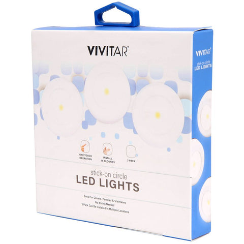 Vivitar VIV-IMP-527 Stick on Led Lights 3 Pack