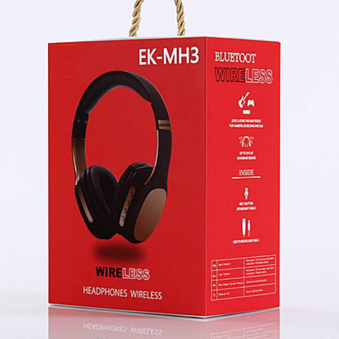 On Ear Bluetooth Headphones - Fulemay EK-MH3 - Noise Cancelling Bluetooth Headphones - For iPhone, Android, PC, Laptop.