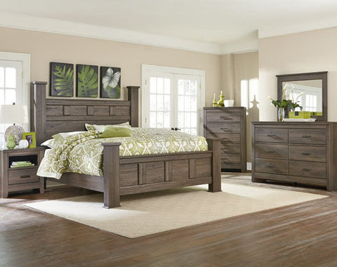 Standard Furniture Hayward 2056522  5pc Bedroom set dark brown weathered finish