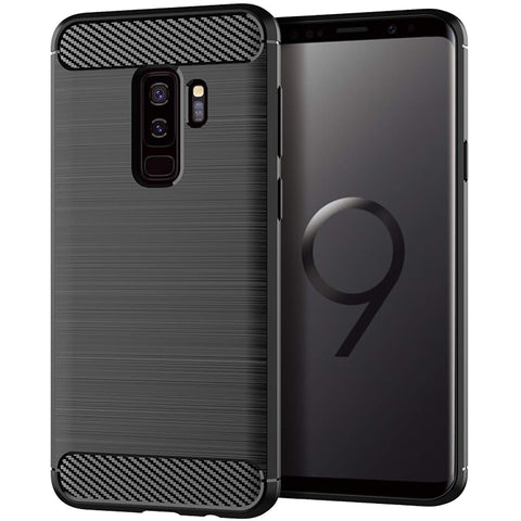 Trianium Samsung Galaxy S9 Plus Case, Brushed Texture Anti-Fingerprint Flexible Full-Body Protective Cover for Samsung Galaxy S9 Plus