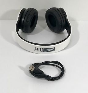 Altec Lansing MZX300-WHT Wireless Over Ear Bluetooth Headphones with Microphone - White