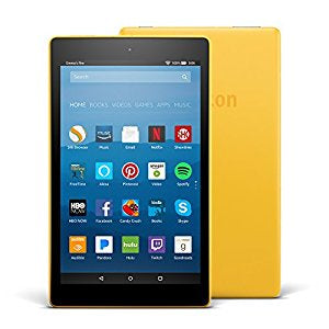 "Amazon Fire HD 8 8"" Tablet (7th Gen) 16GB W/ Alexa - Canary Yellow"