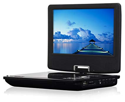 QFX PD-109 BLACK 9 INCH MULTI MEDIA PLAYER WITH GAME FUNCTION & SWIVEL DISPLAY