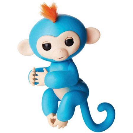 Wowee Fingerlings - Interactive Baby Monkey - Boris (Blue w/ Orange Hair)