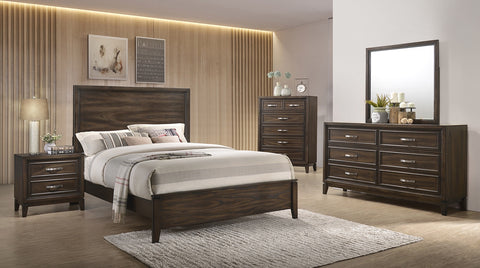 Winchester Tobacco 91100 4pc queen bedroom set