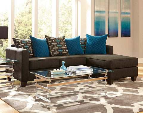 Watson 7830 2 PC. Sectional Sofa (Black) small