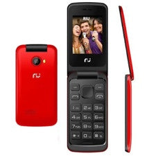 RIU RI-FLIP-RD FLIP 2.4 DUAL SIM UNLOCKED GSM CELL PHONE W/ FM RADIO VGA FLASH CAMERA - RED