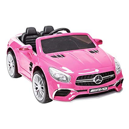 Mercedes SL65 AMG 12V Ride on Car with Parental Remote Control - Pink