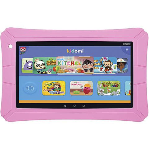"HighQ - HighQ Learning Tab featuring Kidomi, 7"" Kids tablet, 8GB Storage, Quad Core Processor, Gel Case Included - Pink  ELT0706H-PK"