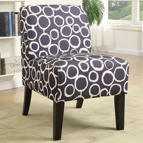 Acme Furniture 59507 Ollano Armless Accent Chair Pattern Fabric