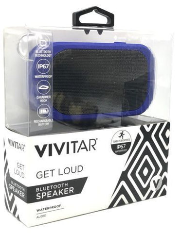 VIVITAR VS60011BT-BLU IPX7  WATERPROOF MINI BLUETOOTH SPEAKER - BLUE