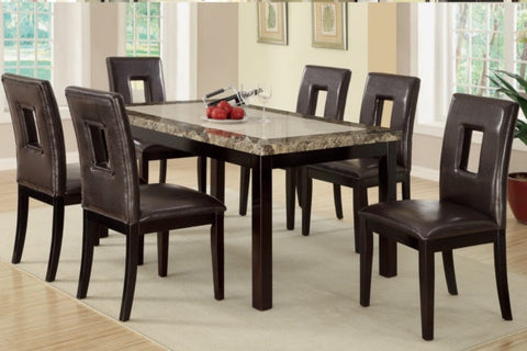 Poundex Dining Table 5pc Set (F2094/ F1051)