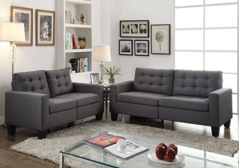 Acme Furniture 52770 / 52771 Earsom Sofa and Loveseat Combo Gray Linen