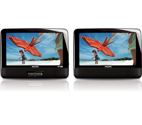 Philips PD9012P/37 9-Inch LCD Dual Screen Portable DVD Player