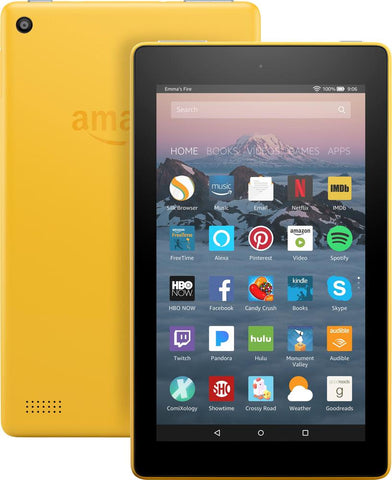 "Amazon Fire HD 7 7"" Tablet (7th Gen) 8GB W/ Alexa - Canary Yellow"