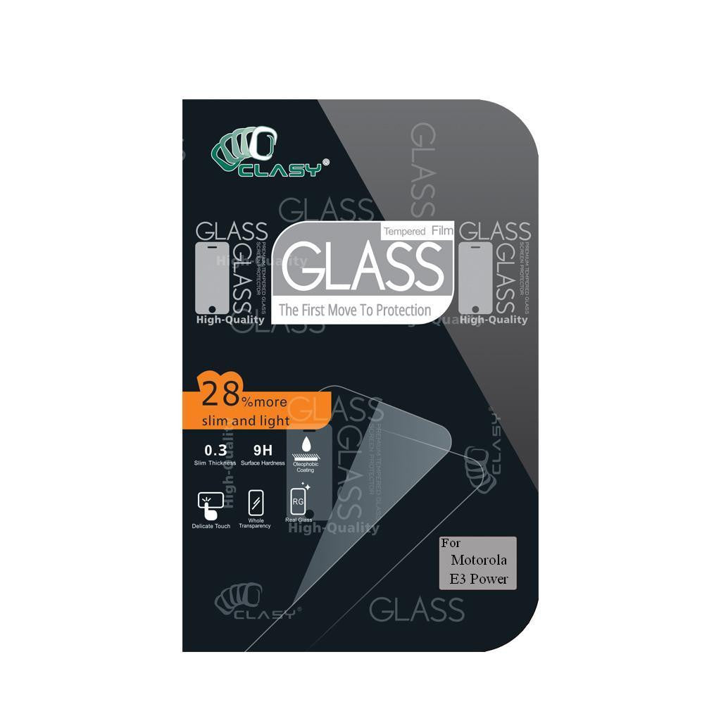 CLASY® Premium Tempered GLass - Motorola E3 Power