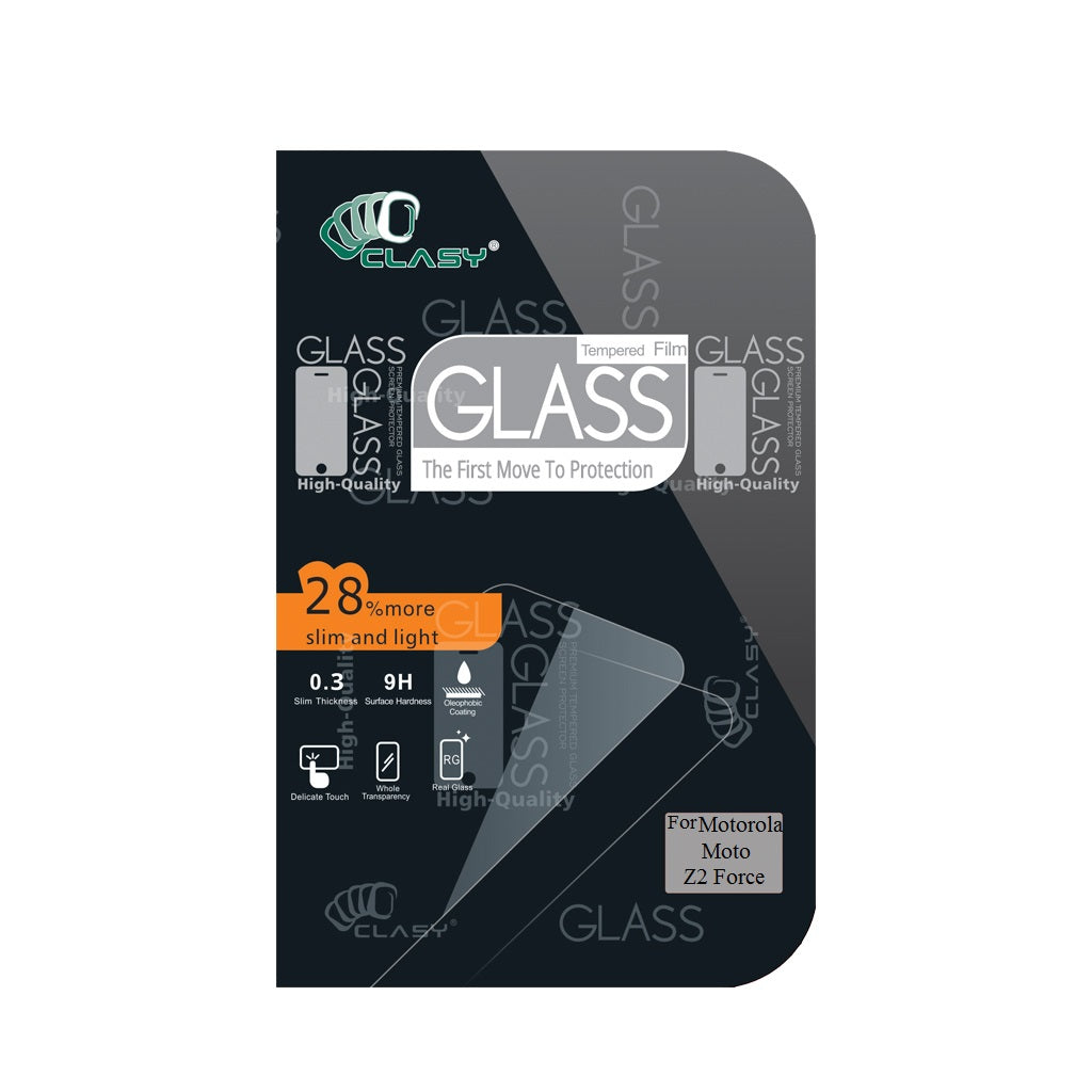 CLASY® Premium Tempered GLass - Motorola Moto Z2 Force