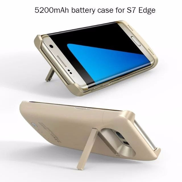 Samsung Galaxy S7 Edge - Rechargeable Battery Case 5200mAh