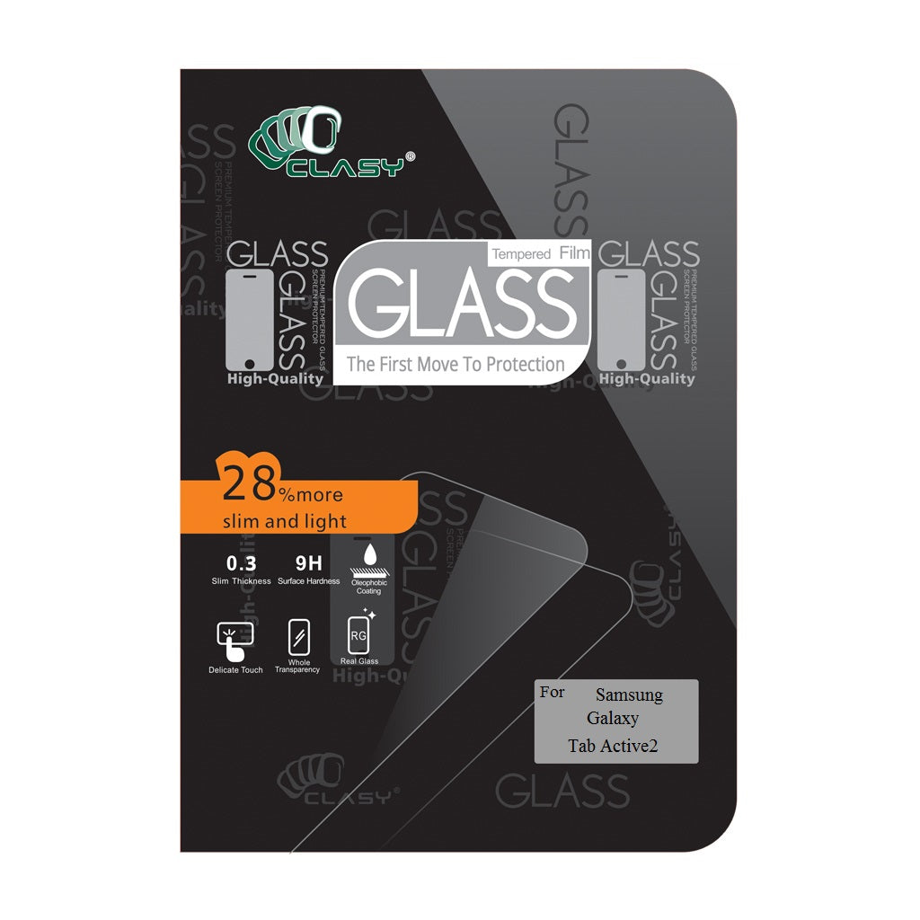 CLASY® Premium Tempered GLass - Samsung Galaxy Tab Active2