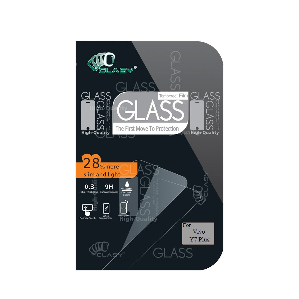 CLASY® Premium Tempered GLass - Vivo Y7 Plus