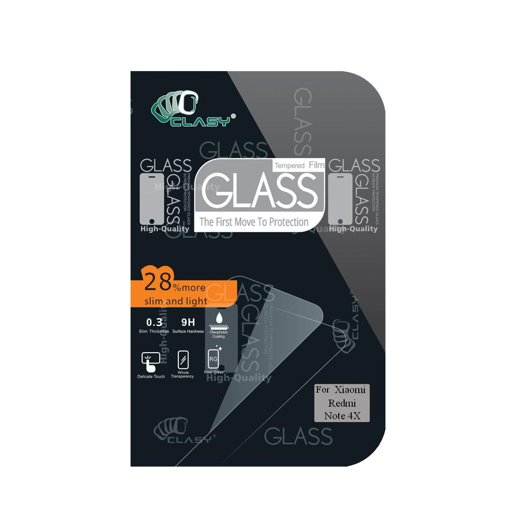 CLASY® Premium Tempered GLass - Xiaomi Redmi Note 4X
