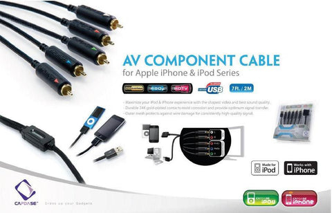 Capdase AV Component Cable For Apple iPhone & iPod Series*