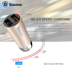 Baseus Car Charger - CarQ Series QC 3.0 Dual USB Car Charger With Qualcomm Quick Charge 3.0