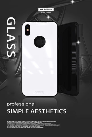 Apple iPhone X - WK Design Azure Stone Series Glass Protective Case