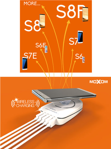 Moxom Auto-ID 6.0A 5USB Wireless Desk Charger KH-50