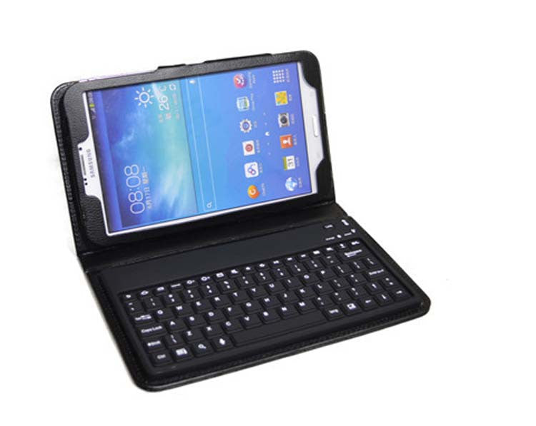 Samsung Galaxy Tab S 8.4 - Bluetooth Keyboard Leather Case