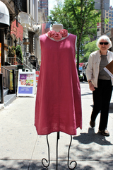 Flax Hem Dress Rose
